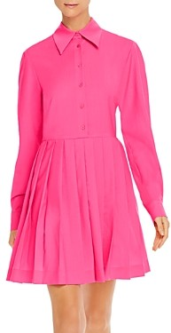 MSGM Abito Pleated Shirt Dress