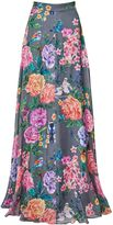 Matthew Williamson Duchess Garden Silk Chiffon Maxi Skirt