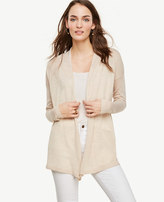 Ann Taylor Wool Blend Open Cardigan