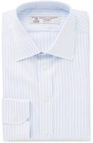 Turnbull & Asser Blue Slim-fit Striped Cotton-twill Shirt - Light blue