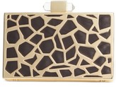 INC International Concepts Inc Animal Print Cage Clutch, Created for Macy's