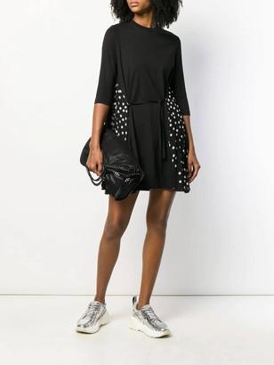 Stella McCartney Polka-dot Panel Dress Black