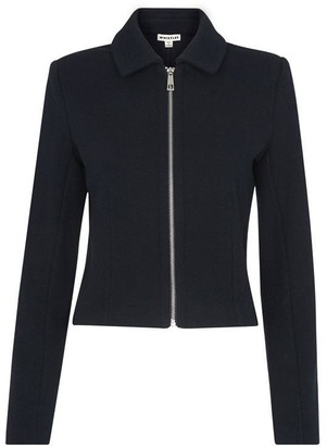 Whistles Zip Front Jersey jacket