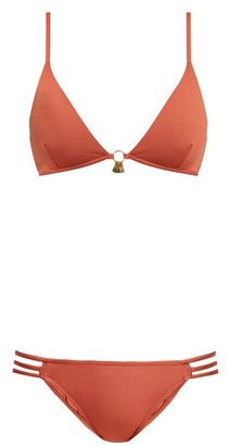 Melissa Odabash Como Triangle Bikini - Womens - Dark Orange