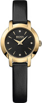 BOSS 1502383 Success gold-plated quartz movement leather strap watch