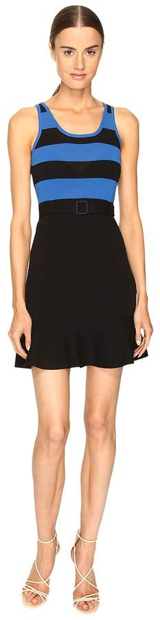 Moschino Striped Top Belted Dress Women's Dress