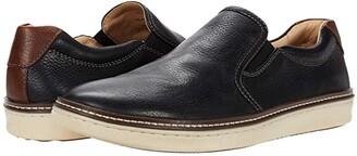 Johnston & Murphy McGuffey Casual Slip-on Sneaker (Tan Oiled Full Grain) Men's Slip on Shoes