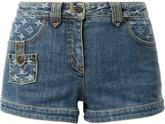 Louis Vuitton Pre Owned jacquard monogram denim shorts