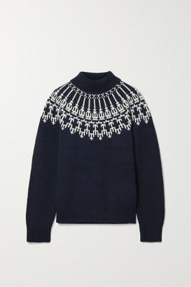 Tory Sport Fair Isle Wool Sweater - Navy