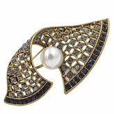 CINDY XIANG Vintage Geometric Brooches for Women
