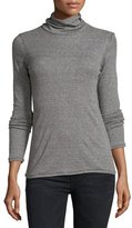 Current/Elliott The Turtleneck Top, Heather Gray