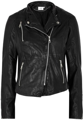Gestuz Joanna Black Leather Biker Jacket