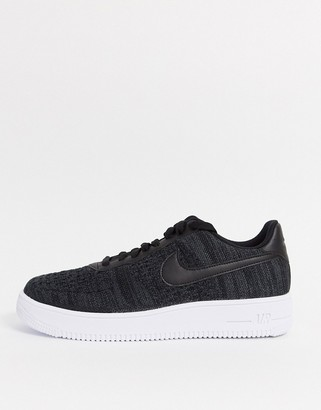 Nike Force 1 Flyknit 2.0 trainers in black