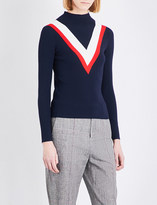 Mo&Co. High-neck knitted jumper
