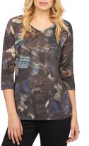 FDJ French Dressing Brushstroke Abstract Top