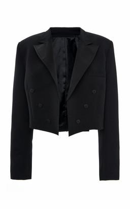 ATTICO Cropped Wool-Blend Blazer