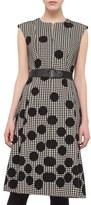 Akris Punto Women's Belted Houndstooth & Polka Dot Print Dress