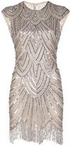Naeem Khan embellished fringe dress