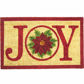 Asstd National Brand Joy Poinsettia Doormat