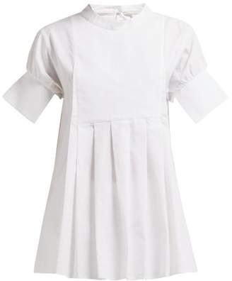 story. White Daphne Box Pleat Cotton Top - Womens - White
