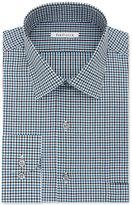 Van Heusen Men's Classic/Regular Fit Green Multi Check Dress Shirt
