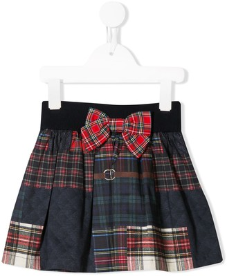Lapin House Tartan Check Mini Skirt
