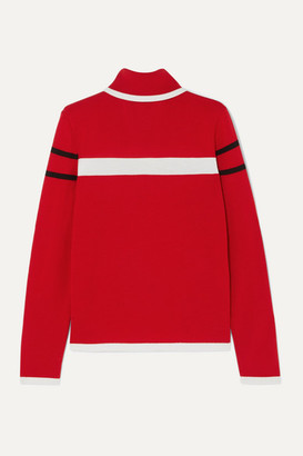 Erin Snow Kito Striped Merino Wool Turtleneck Sweater - Red