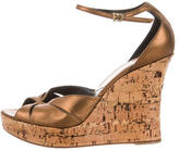 Christian Dior Metallic Wedge Sandals