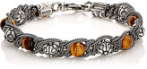Emanuele Bicocchi Men's Braided Chain Bracelet-Brown