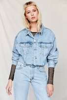 Urban Renewal Recycled Frayed Cropped Denim Jacket