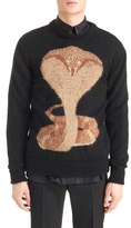 Givenchy Men's Cobra Intarsia Sweater