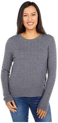Pendleton Merino Cable Pullover (Grey Heather) Women's Sweater