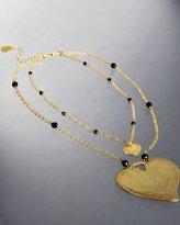 Lisa K gold 'Double Heart' pendant necklace
