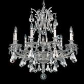 Schonbek Sophia 9 - Light Candle Style Empire Chandelier Finish: Heirloom Bronze, Crystal Type: Heritage Handcut Golden Shadow