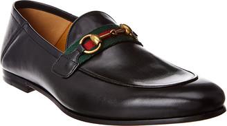 Gucci Horsebit Web Leather Loafer