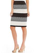 Preston & York Kelly Printed Stretch Crepe Pencil Skirt