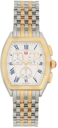 Michele Two-Tone Stainless Steel Chronograph Watch