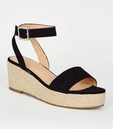 New Look Faux Snake Espadrille Flatform Sandals