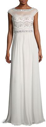 Lotus Threads Embellished Floor-Length Dress