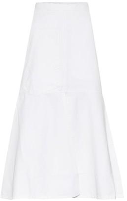 Tibi Cotton-twill midi skirt