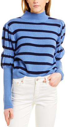 Derek Lam 10 Crosby Elani Puff Sleeve Wool Sweater