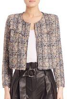 IRO Hella Silk-Blend Tweed Cropped Jacket