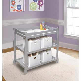 Harriet Bee Harriet Sleigh Style Baby Changing Table with Pad