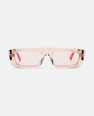 Stella McCartney pink square sunglasses