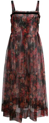 Molly Goddard Trino floral-print tulle dress