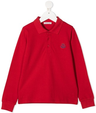 Moncler Enfant Logo-Patch Polo Shirt