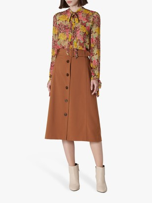 LK Bennett Oda Cotton Skirt, Tobacco