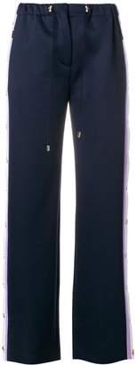 Versace side stripe trousers