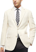 STAFFORD Stafford Bone Herringbone Linen-Cotton Sport Coat - Classic Fit