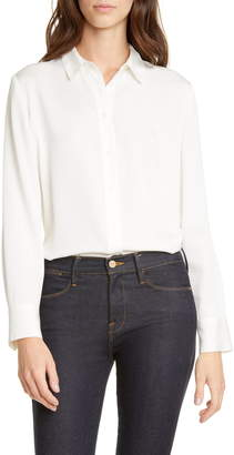 Nordstrom Signature Stretch Silk Button-Up Shirt